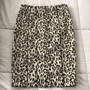 New WHBM Leopard Print Skirt